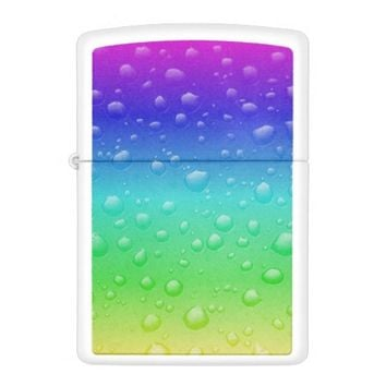 rainbow with water drops zippo lighter