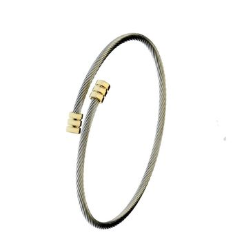 Women's Sign Line Tennis Bracelet Aluminum Plated Bangle Jewelry for Woman