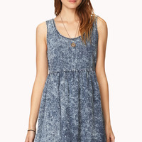 Acid Wash Baby Doll Dress