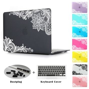 Girls Matte Lace Hard Case Cover for Macbook Air 13 12 11 Pro 13 15 inch
