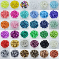 1000pcs Round Opaque Lot Colorful Glass Seed Beads Jewelry Making  [9302830602]