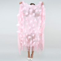 Feather & Fringe Boa Coverlet