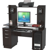 Credenza / Computer Workcenter with Hutch