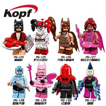 Super Heroes Pink Power Batgirl Zodiac Master Nurse Harley Quinn Lobster-Lovin's Batman Building Blocks Bricks Kids Toys PG8040