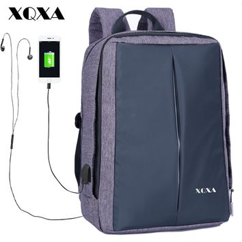 Waterproof Men Women Backpack Anti-theft Business Backpack Bag for Laptop Computer External USB Charge