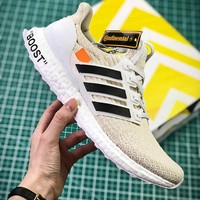 OFF WHITE X Adidas Ultra Boost 4.0 BA8841 Sport Running Shoes - Best Online Sale