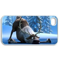 Sven-Frozen Stylish Printing Iphone 4 DIY Cover Custom Case-0379-05