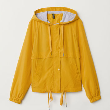 Hooded Jacket - Yellow - Ladies | H&M US