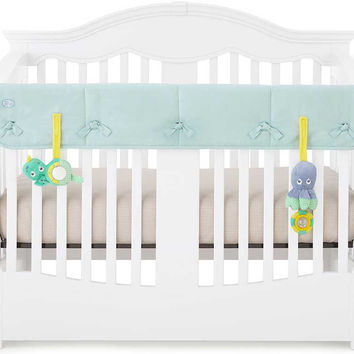 Aqua Organic Crib Rail Cover - Wide Rail Cover