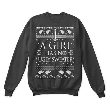 SPBEST Game Of Thrones Arya Stark A Girl Has No Ugly Sweater