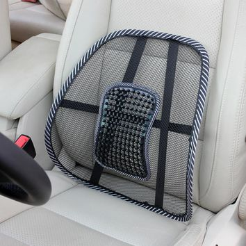 Lumbar Pillow Waist Back Mesh Cloth Car Seat Cushion Lumbar Back Support Cushion Relief Office Auto Travel Booster Seat Chair