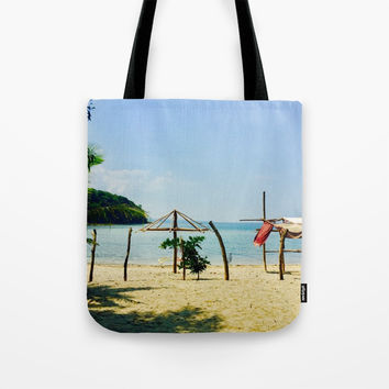 Beachfront Tote Bag by Jenna C.
