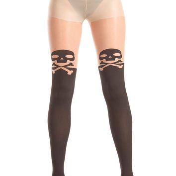 Be Wicked Pantyhose Crossbones