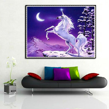 Unicorn 3D diy diamond painting wall sticker diamond mosaic  cross stitch needlework embroidery diamonds diamond embroidery