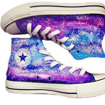 CREYON galaxy custom converse converse sneakers hand painted on converse shoes canvas shoe