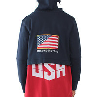MID-WEIGHT FRENCH TERRY OLYMPIC USA NAVY/RED HOODIE
