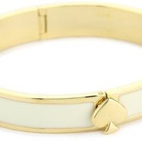 Kate Spade New York Women's Spade Hinge Bangle Cream Bangle Bracelet One Size