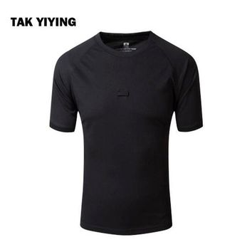 PEAPFS2 TAK YIYING Summer Coolmax Camouflage Outdoor Camping & Hiking T Shirt Men Breathable Quick Dry US  T-Shirt Camo O Neck