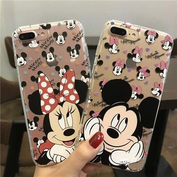 For iPhone XS Max XR X Mickey Minnie Mouse Shockproof Anti-knock Soft Case For iPhone 8 6 6S 7 Plus