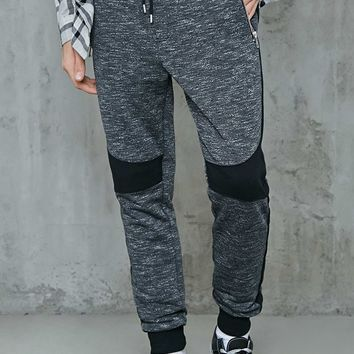 Colorblock Marled Knit Joggers
