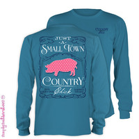 Simply Southern Collection Just A Small Town Country Chick Long Sleeve T Shirt