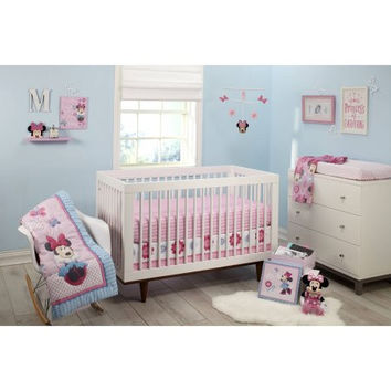 Disney Minnie Mouse Infant Baby Crib Bedding Set with Bumper