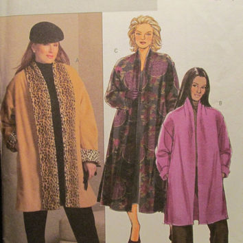 SALE Uncut Butterick Sewing Pattern, 4943! 18W-20W-22W-24W Plus Sizes/Women's/Misses/Coats/Jackets/Fleece Jacket/Winter Coats/Warm Jacket