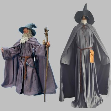 Lord Of The Rings Gandalf Wizard Cosplay Costume Outfit