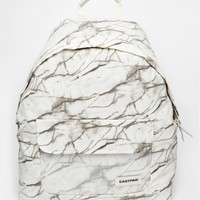 Eastpak Padded Pak'r Backpack in Marble Print with Perspex Pocket