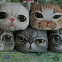 1pc cat face pillow with inserts home decoration boy girl birthday gift cushion animal pillow