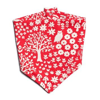 Woodland Red Bib by Winter Water Factory