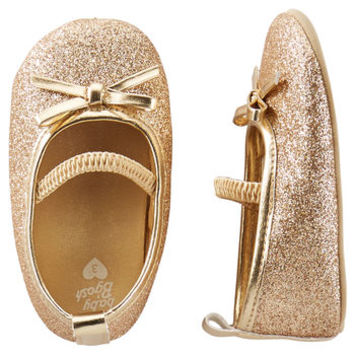 OshKosh Sparkle Mary Jane Crib Shoes
