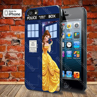 Disney Princess Belle Tardis Police Box 2 Case For iPhone 5, 5S, 5C, 4, 4S and Samsung Galaxy S3, S4