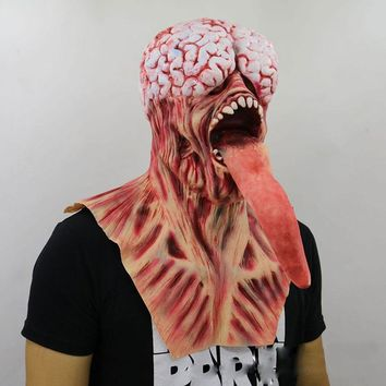 Realistic Adult Party Costume Horror Mask Scary Halloween Carnival Cosplay Resident Evil Zombie Mask BF004
