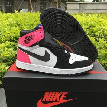 UCANUJ3V Air Jordan 1 GS ¡°Valentines Day¡± Women Basketball Shoes