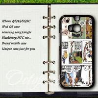 Samsung galaxy S4active case,htc one m7 / m8 / S / X case,Calvin and Hobbes,samsung galaxy S3 / S4 / S5 / case,Blackberry Z10 case,Q10 case