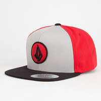 Volcom Fusion Mens Snapback Hat Red One Size For Men 26495330001