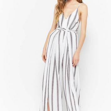 Striped Cami Split-Leg Jumpsuit
