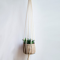 Macrame Plant Hanger / 34 Inch / 1/8 inch Braided Cotton Cord