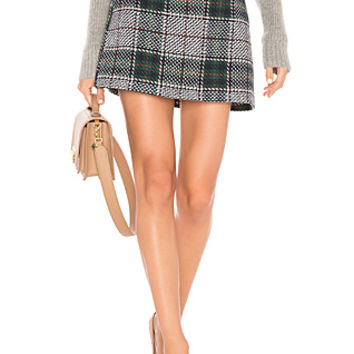 Endless Rose Plaid Mini Skirt in Hunter Green | REVOLVE