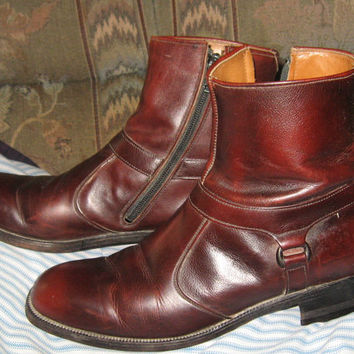 Classic  1960S BEATLE Ankle High Breather Wright Boots sz 8 1/2