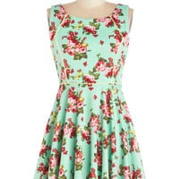 ModCloth Short Sleeveless A-line Woman in the Office Dress