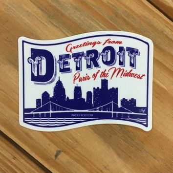DCCKG8Q Ink Detroit Paris of the Midwest Vinyl Die Cut Bumper Sticker