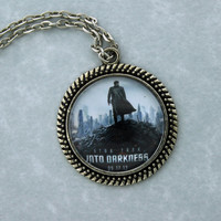 "STAR TREK Into Darkness ""Khan"" Pendant Necklace, Sherlock Holmes,Fan Jewelry, Great Gift"