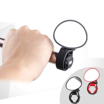 CREY3F MTB Bike Rear-view Mirror Lightweight Round Billet Bar End Mirrors Cycling Mirror Bicycle Accessory Red Black