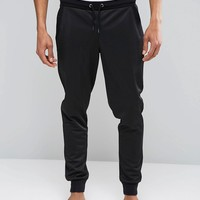 ASOS Loungewear Skinny Joggers in Poly Tricot With Double Waistband at asos.com