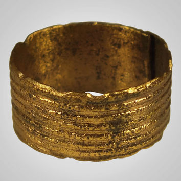 Authentic  Ancient Viking Pinky Ring Jewelry C.866-1067A.D. Size 9  (20.2mm)(BRR534)