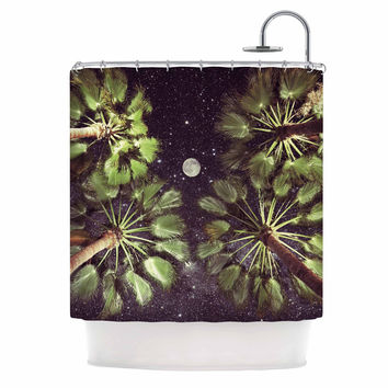 "Richard Casillas ""Elevated Paradise "" Green Black Shower Curtain"
