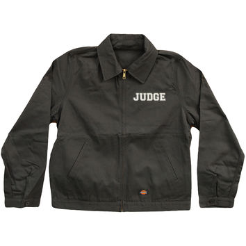 Judge Men's  Logo Dickies Work Jacket Grey Rockabilia