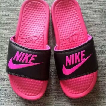 LMFONT NEW NIKE MEN AND WOMEN SANDALS SLIPPERS SNEAKERS CANVAS